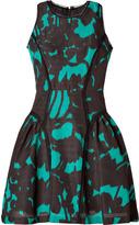 Milly Printed Dress in Black/Teal