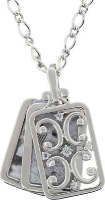 Monica Rich Kosann Silver Gate Frame Necklace