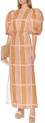 Johanna Ortiz Whispered Sunset linen midi dress