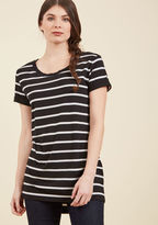 ModCloth Simplicity on a Saturday Tunic in Black Stripes in S