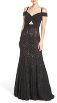 La Femme Women's Jersey & Lace Gown