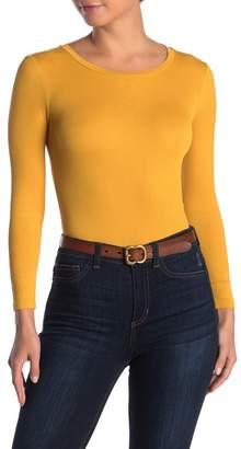 Elodie K Long Sleeve Crew Neck Ribbed Bodysuit