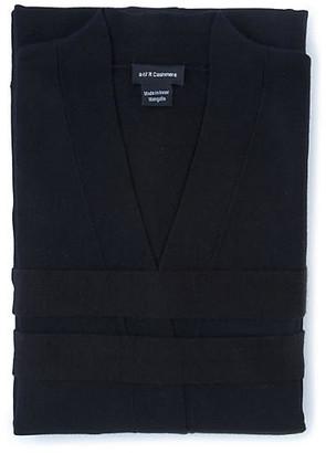 A & R Cashmere A&R Cashmere Cashmere-Blend Robe - Black - a&R Cashmere