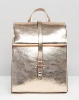 Asos Metallic Roll Top Backpack
