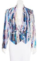 Rebecca Minkoff Silk Abstract Print Blazer