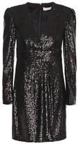 A.L.C. Wrap-effect Sequined Tulle Mini Dress