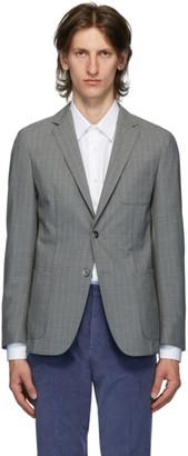 HUGO BOSS Grey Wool Nolvay Blazer