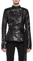 Alexander McQueen Studded Leather Biker Jacket, Black