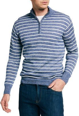Peter Millar Men's Cottex Long-Sleeve Striped Knit Sweater