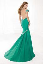 Tarik Ediz Embellished Mermaid Gown 92379