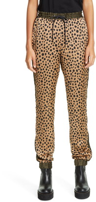 Sacai Side Pleat Cheetah Print Joggers