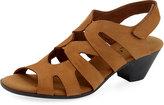 Sesto Meucci Philys Nubuck Grip-Strap Sandal, Camel