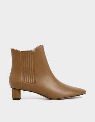 Charles & Keith Cylindrical Heel Chelsea Boots
