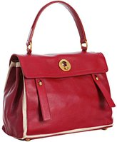 flame and white calfskin leather 'Muse Two' satchel