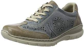 Rieker Women's L3206 Low-Top Sneakers, Blue (Steel/Azur / 43)