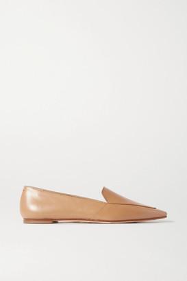 AEYDĒ Aurora Leather Loafers - Tan
