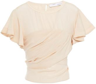IRO Sormia Tie-back Silk Crepe De Chine Blouse