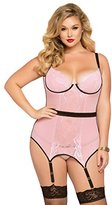 Seven Til Midnight Women's Plus Size Cage Detailed Chemise Set