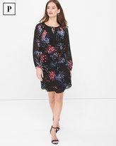 White House Black Market Petite Long-Sleeve Floral Print Dress