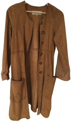 Gerard Darel Brown Suede Coat for Women