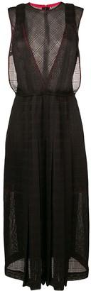 Victoria Beckham Sheer Panels Midi Dress