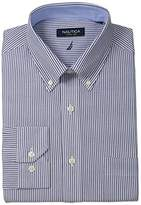 Nautica Men's Engineer Stripe Button-Down Collar Dress Shirt