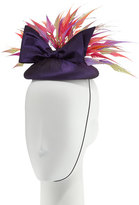 Rachel Trevor-morgan Rachel Trevor Morgan Silk Taffeta Pillbox Hat, Purple/Multicolor