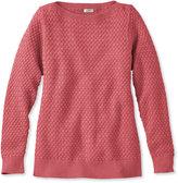 L.L. Bean Cotton Basket-Weave Sweater, Boatneck Pullover