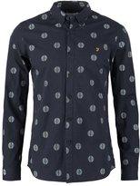 Farah Millfield Slim Fit Shirt True Navy Marl