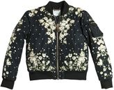 Givenchy Floral Print Nylon Padded Bomber Jacket