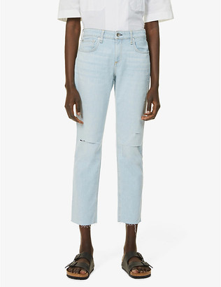 Rag & Bone Dre ripped slim-fit low-rise boyfriend jeans