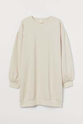 H&M Sweatshirt Dress - Beige