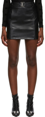 Misbhv Black Faux-Leather Miniskirt