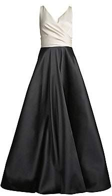 Sachin + Babi Women's Cleo Colorblocked Sleeveless Ball Gown