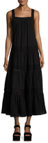 BCBGMAXAZRIA Cotton Embroidered Eyelet A Line Dress