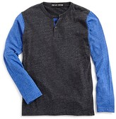 Vintage Havana Boys' Contrast Sleeve Heathered Henley Tee - Sizes 4-7