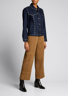 Dries Van Noten Studded Denim Jacket