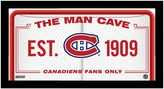 """Steiner Sports Montreal Canadiens Framed 10"""" x 20"""" Man Cave Sign"""