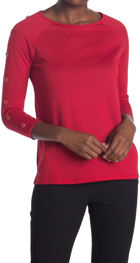 Love by Design Nadia 3/4 Button Sleeve Top