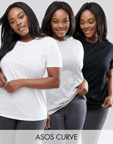 Asos Crew Neck T-Shirt 3 Pack