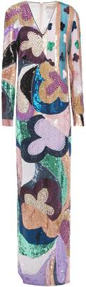 Emilio Pucci Embellished Sequined Silk-chiffon Gown