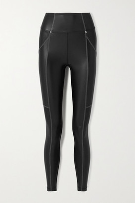 Heroine Sport Allure Coated Stretch Leggings - Black