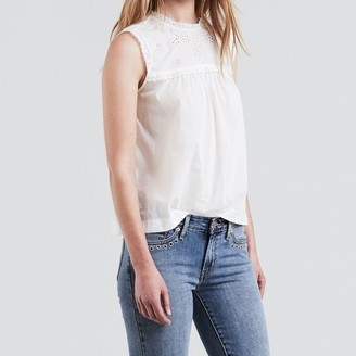 Levi's Broderie Anglaise Cotton Blouse