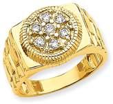 jewelryPot 14k Yellow Gold SI2 Diamond men's ring.