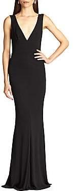 ABS by Allen Schwartz Women's Jersey Deep V-Neck Gown