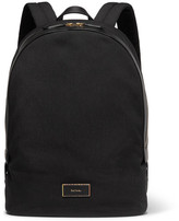 Paul Smith Leather-trimmed Canvas Backpack - Black