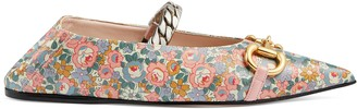 Gucci Women's Liberty online exclusive floral ballet flat