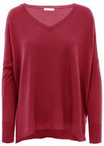 Minnie Rose Cashmere Long Sleeve Boyfriend Sweater - 732