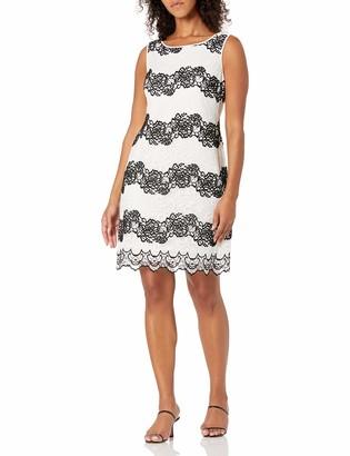 SL Fashions Women's Color Block Lace Sheath Dress