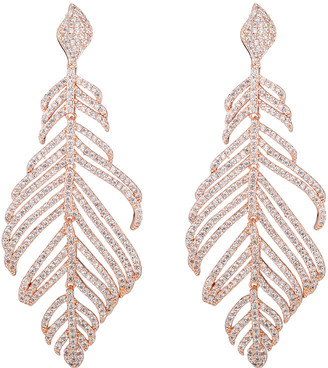 Eye Candy Los Angeles Eye Candy La Feather Cz Crystal Drop Earring